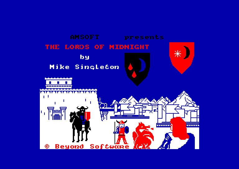 loading screen of the Amstrad CPC game Lords of Midnight