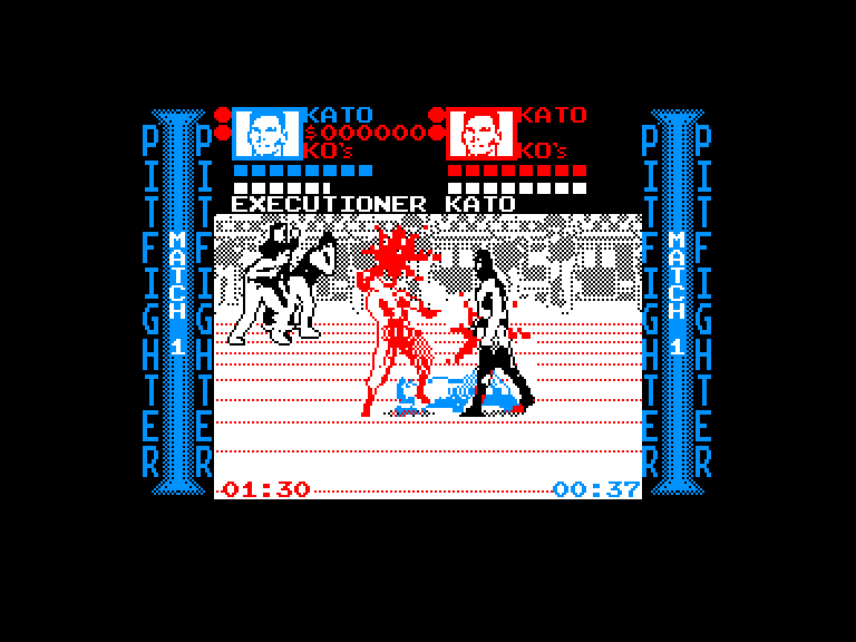 screenshot of Pit fighter provided by GameBase CPC