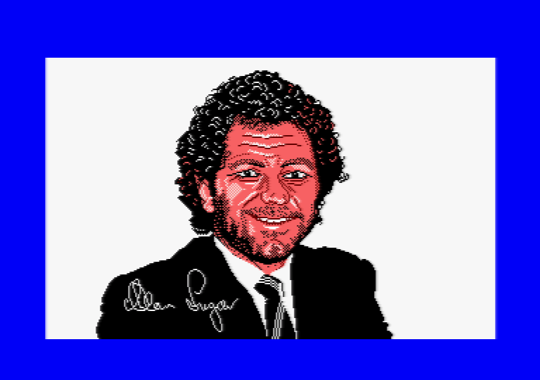Alan Michael Sugar by Jill Lawson, mode 1 picture on an Amstrad CPC